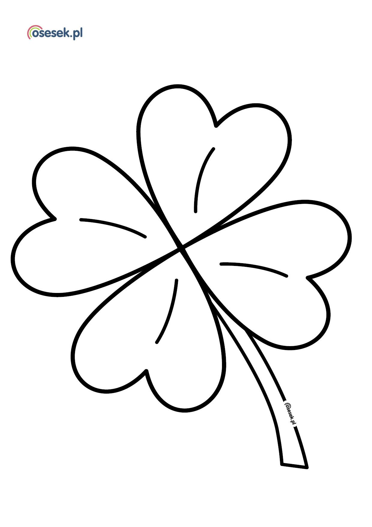 Mothers Day Flower Czterolistna Konieczyna Kolorowanka Dla Dzieci Do Druku