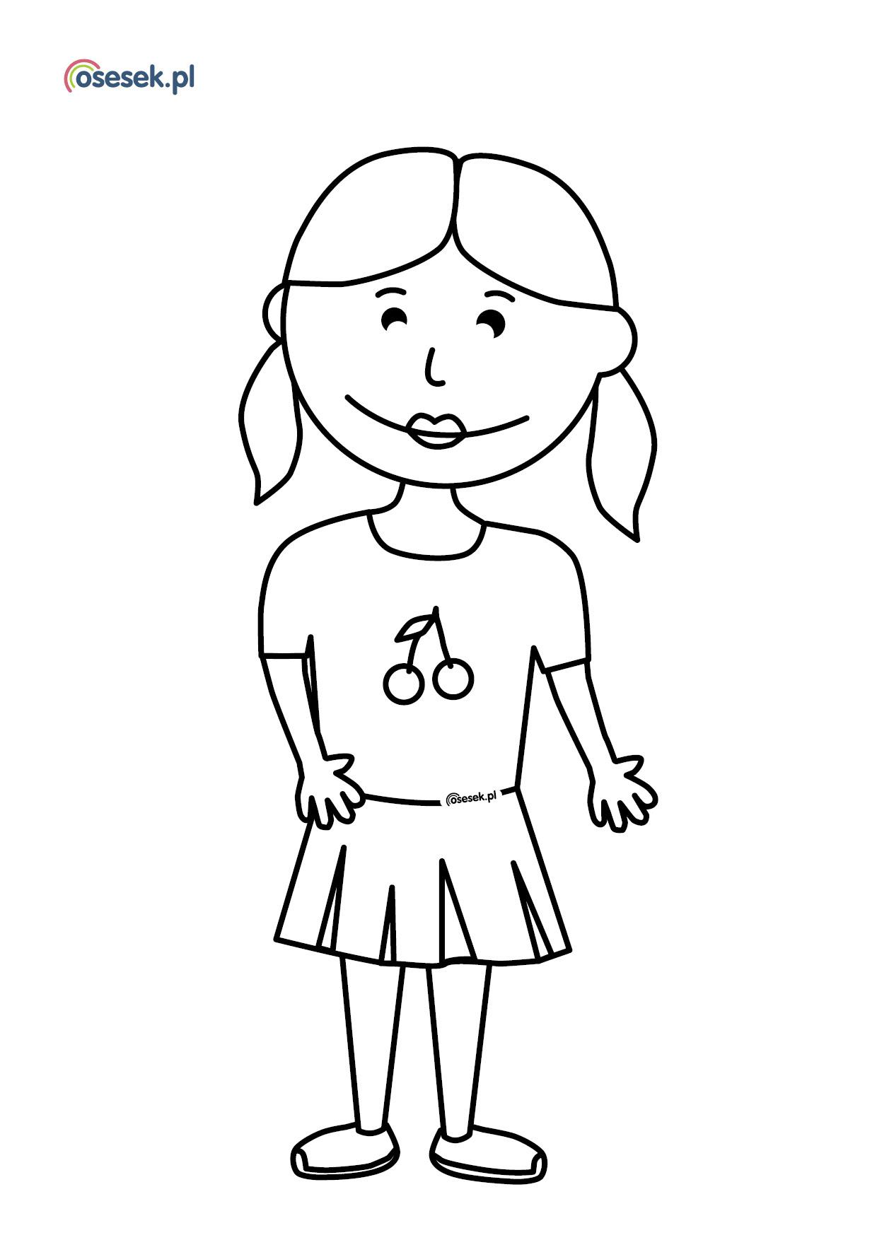 Dziewczynka Kolorowanka Dla Dzieci Do Druku Osesek Pl