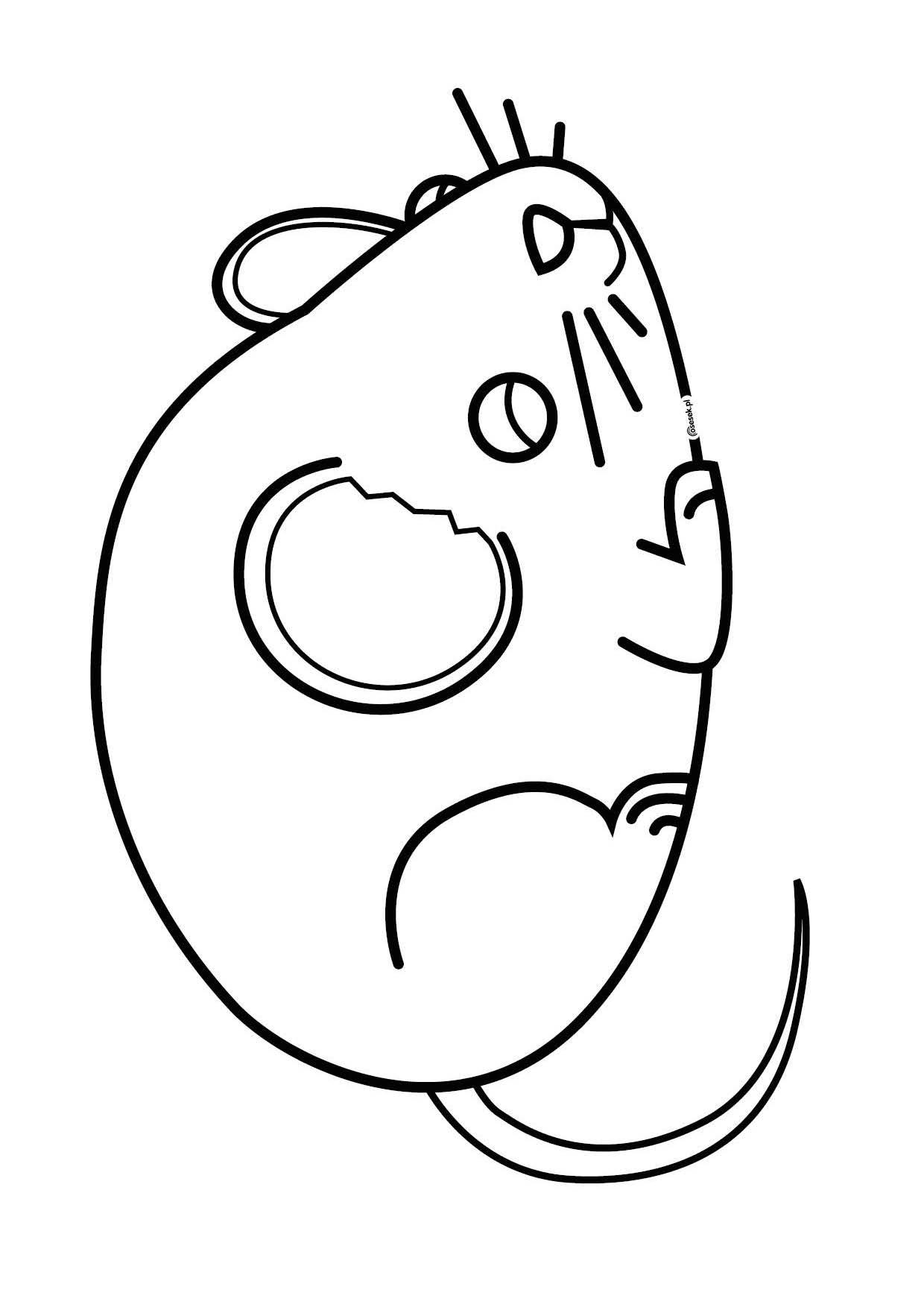 Myszka Brygida Kolorowanka Dla Dzieci Do Druku Osesek Pl