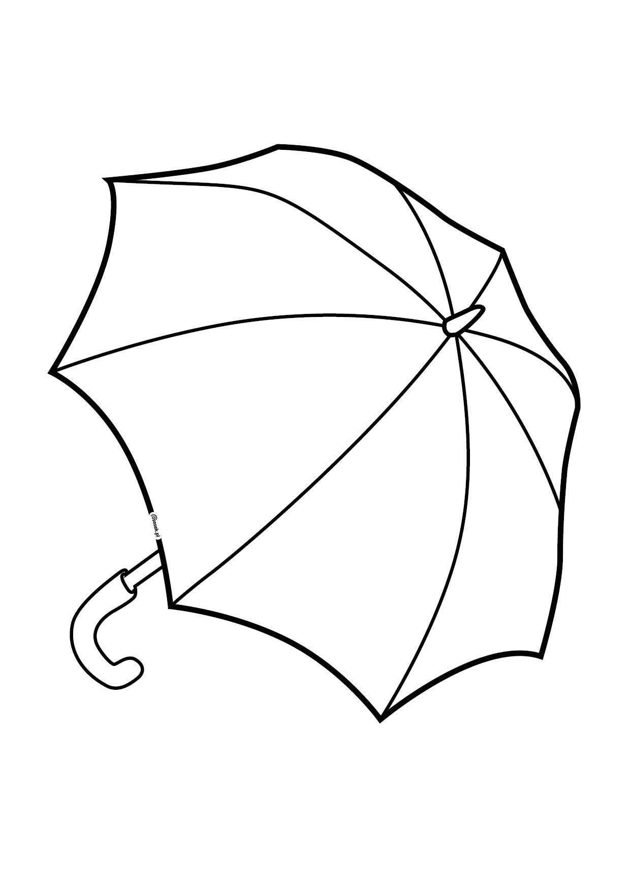 Parasol Kolorowanka Dla Dzieci Do Druku Osesek Pl