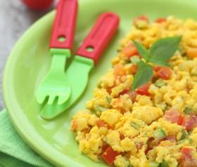 przepis na jajecznica z pomidorami