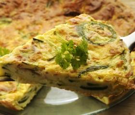 przepis na omlet z cukinią