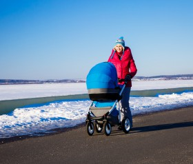 pierwszy spacer z noworodkiem