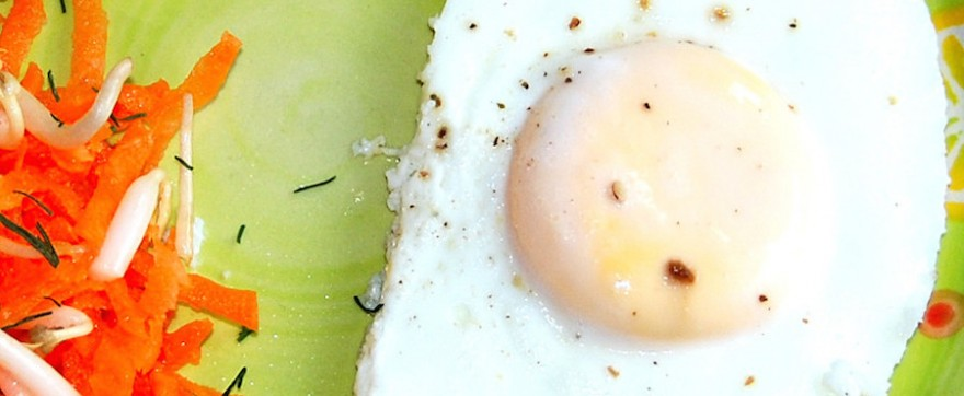 jajko sadzone na parze